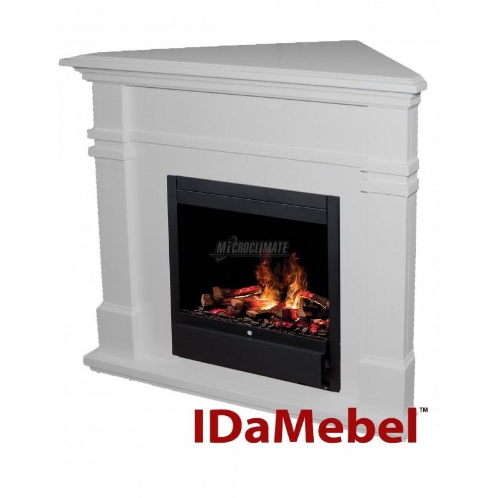 Каминокомплект IDaMebel Florida White angle + Dimplex Albany