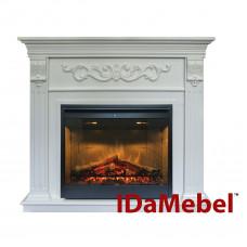 Каминокомплект IDaMebel Marseille DF2608-INT Белый Ясень