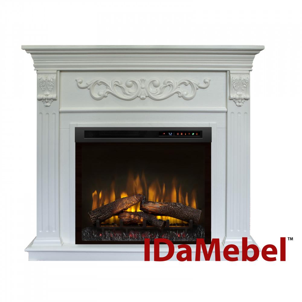 Каминокомплект IDaMebel Marseille XHD28L-INT Белый Ясень