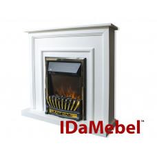 Каминокомплект IDaMebel Adele Белый Aspen Gold