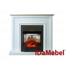 Каминокомплект IDaMebel Adele Белый Majestic Black