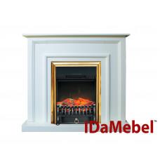 Каминокомплект IDaMebel Adele Белый Fobos Brass