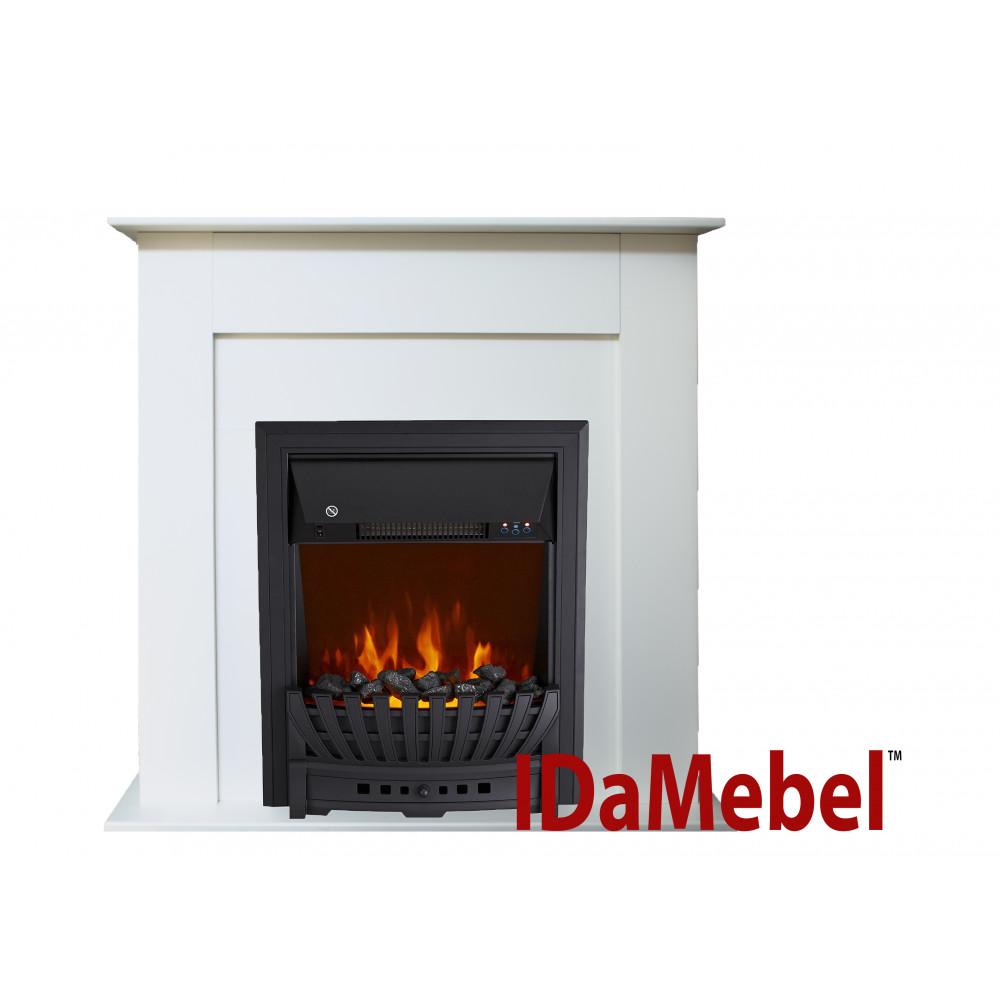 Каминокомплект IDaMebel Francheska Белый Aspen Black