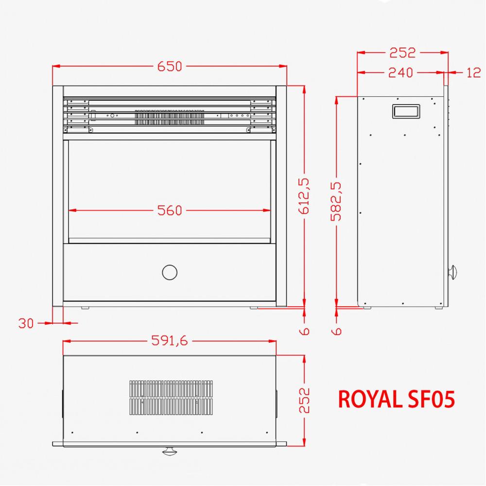 Электрокамин Royal 3D Etna SF05